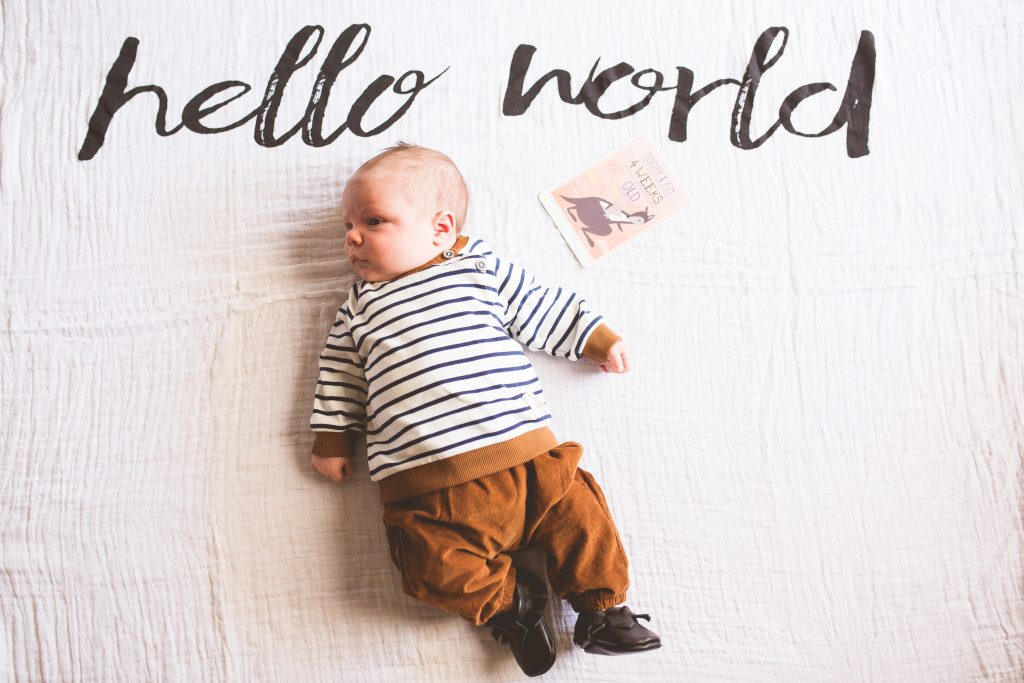 Modern Burlap Hello World