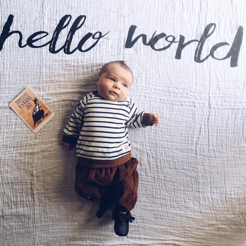Modern Burlap Hello World