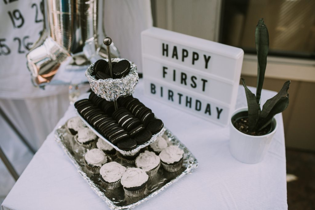 Modern Monochrome First Birthday