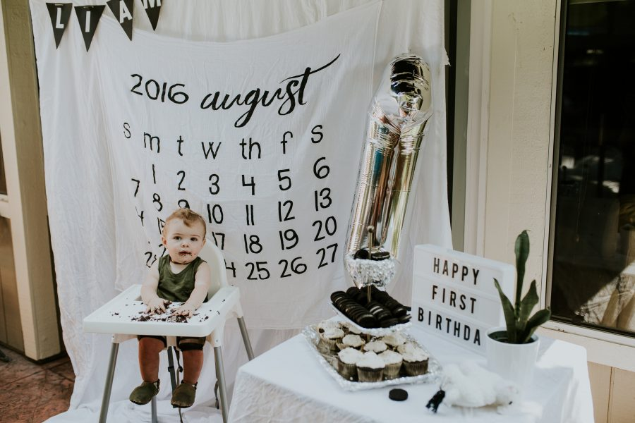 Liam's Monochrome First Birthday Party