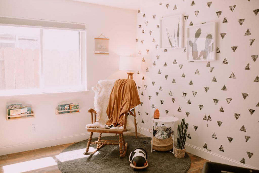 Desert Themed Modern Nursery and Toddler Room